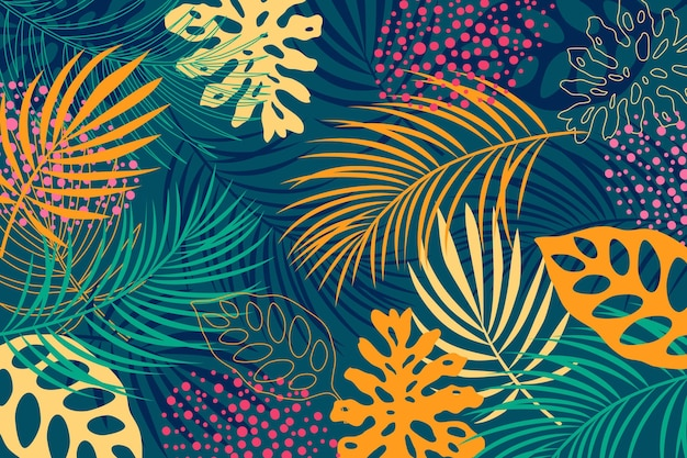 Abstrakter tropischer blätterhintergrund