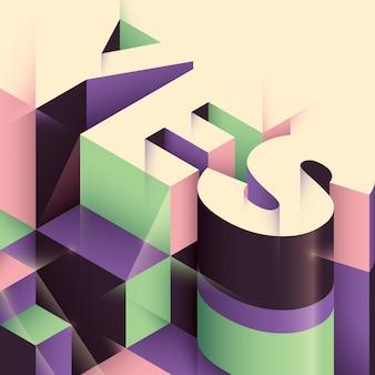 Abstrakter typografischer hintergrund