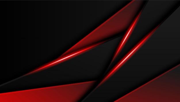 Abstrakter überlappungshintergrund der roten leuchte. helles luxusrot zeichnet modernen sporthintergrund
