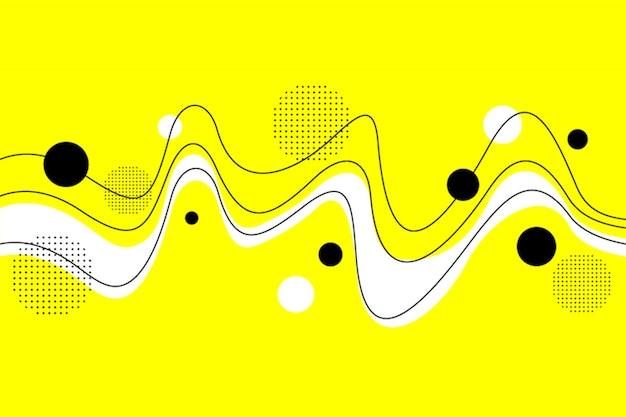 Abstrakter unbedeutender fluss in gelblichen hintergrund