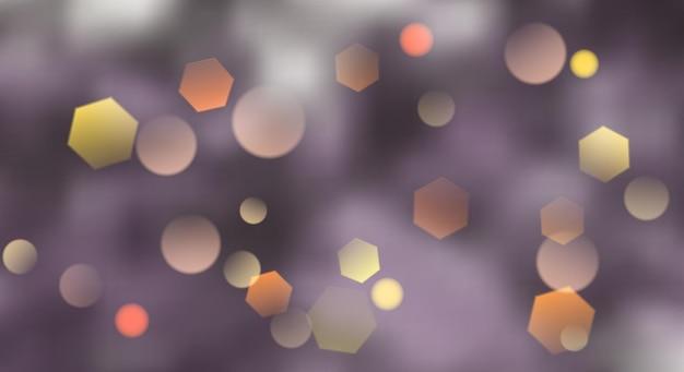 Abstrakter unscharfer hintergrund mit bokeh-effekt in violetten farben