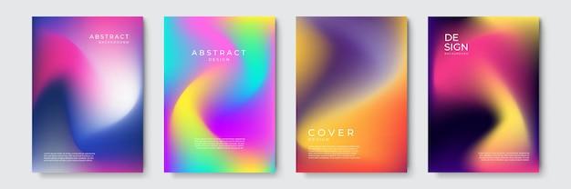 Abstrakter vektor deckt designvorlage ab. geometrischer hintergrund mit farbverlauf. hintergrund für dekorationspräsentation, broschüre, katalog, poster, buch, zeitschrift