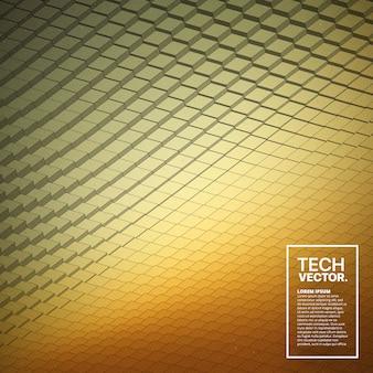 Abstrakter vektor-tech-wellenform-hintergrund