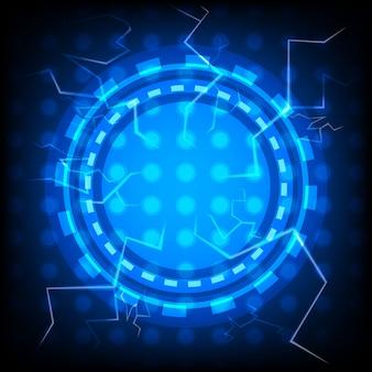 Abstrakter vektor thunderbolt-technologie-hintergrund