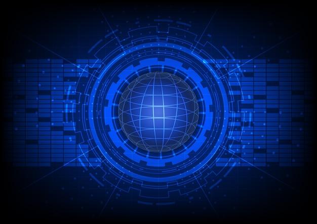 Abstrakter vektor-weltweiter digital-technologie-hintergrund
