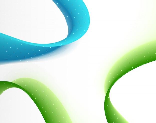 Abstrakter vektorhintergrund mit glatter welle des blauen grüns farb.