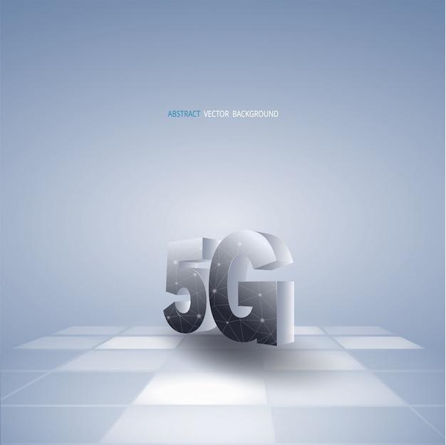 Abstrakter vektorhintergrund mit kommunikationen 5g