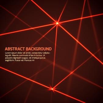 Abstrakter vektortechnologiehintergrund mit roten laserstrahlen der sicherheit