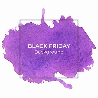 Abstrakter violetter blackfriday-aquarellhintergrund