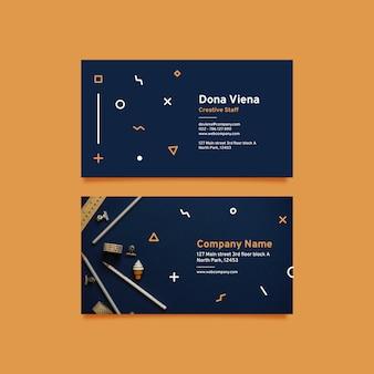Abstrakter visitenkartesatz mit foto