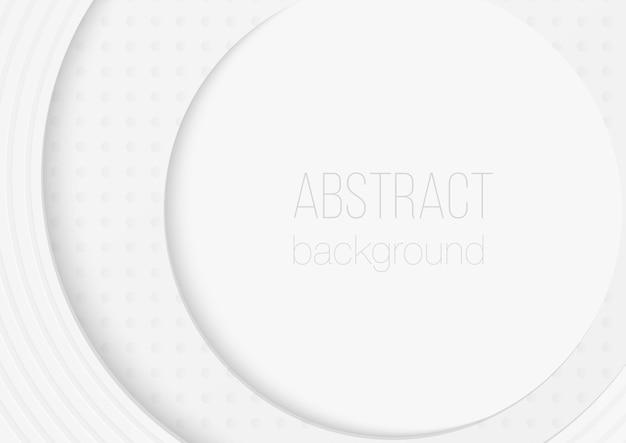 Abstrakter volumetrischer 3d-kreis abgerundeter papierschnittkunsthintergrund