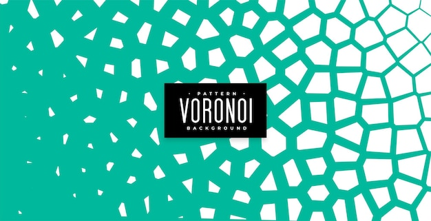 Abstrakter voronoi-musterhintergrund in der türkisfarbenen farbe