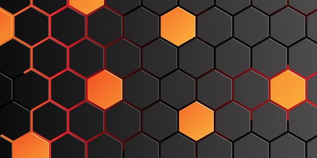 Abstrakter wabenhintergrund. illustration des geometrischen sechseck-hintergrunds
