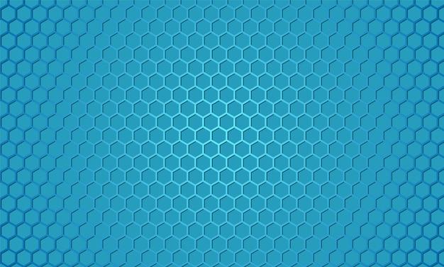 Abstrakter wabenhintergrund mit blauer kohlefaser.