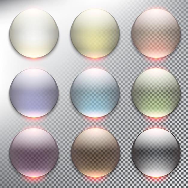 Abstrakter webknopfsatz 9er-kreis. isoliert