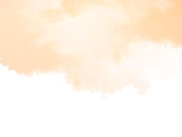 Abstrakter weicher gelber aquarellbeschaffenheitshintergrund Kostenlosen Vektoren