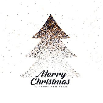 Abstrakter weihnachtsbaum gemacht mit partikeln