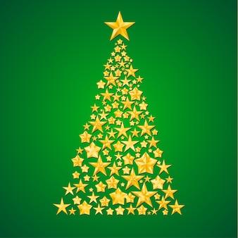 Abstrakter weihnachtsbaum von den sternen
