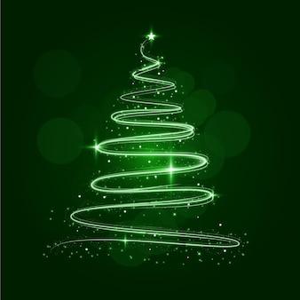 Abstrakter weihnachtsbaum