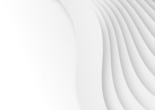 Abstrakter weißer geometrischer formüberlappungshintergrund