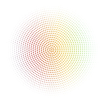 Abstrakter weißer hintergrund gemasert mit silbernem radialhalbtonbild