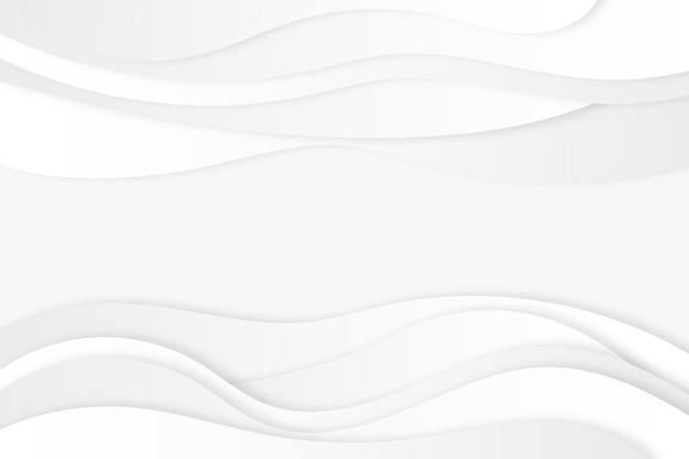 Abstrakter weißer hintergrund mit dynamischen wellenlinien