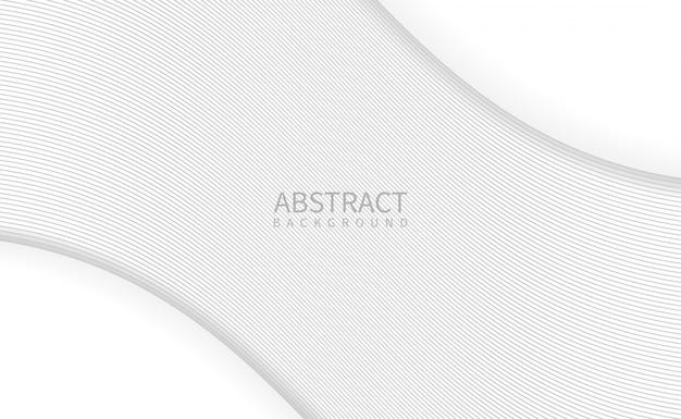 Abstrakter weißer hintergrund mit gewellter linie