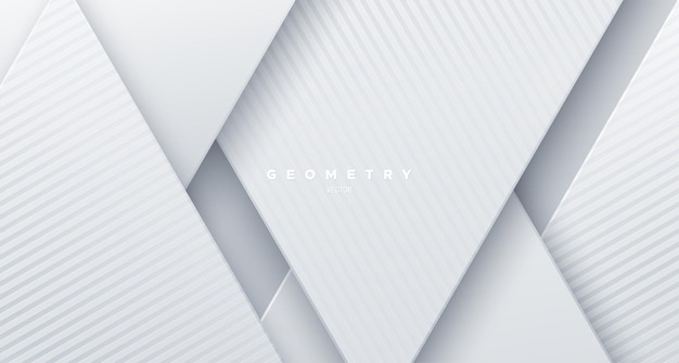 Abstrakter weißer papierschnitthintergrund mit schrägen formen