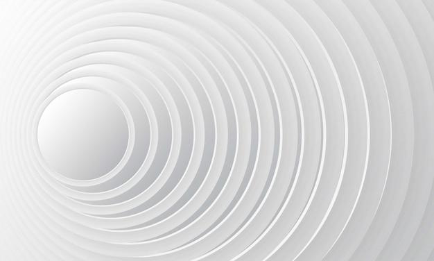 Abstrakter weißer steigungshintergrund mit moderner geometrischer dynamischer bewegungsart