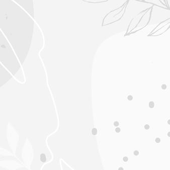 Abstrakter weißer ton memphis sozialer hintergrund