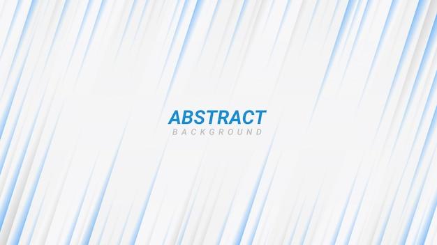 Abstrakter weißer und blauer geschäftshintergrund mit blauen diagonalen linienstreifen