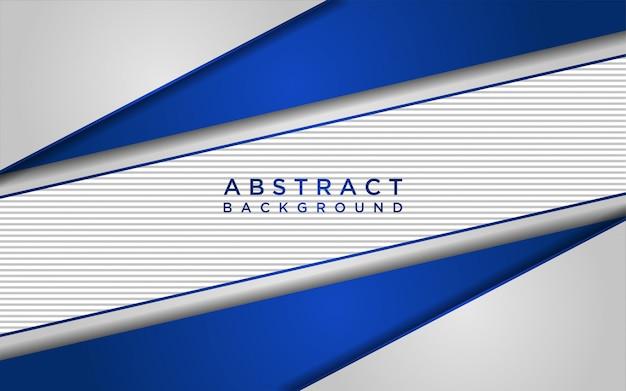 Abstrakter weißer und blauer hintergrund mit überlappungsebenen und linientextur