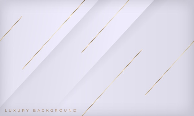 Abstrakter weißer und goldener linienluxushintergrund