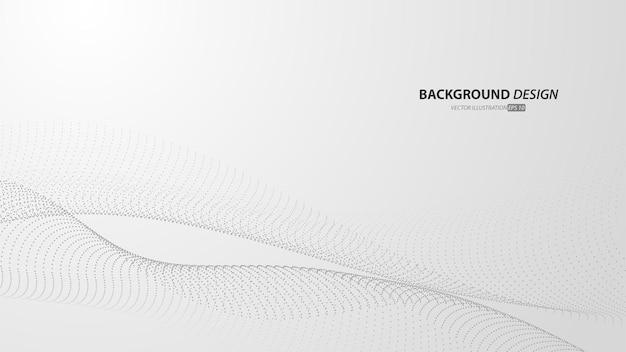 Abstrakter weißer und grauer farbverlaufshintergrund. mit fließenden partikeln.