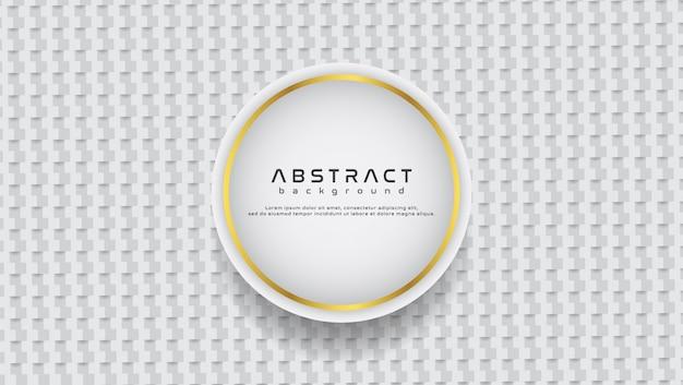 Abstrakter weißer und grauer geometrischer formhintergrund