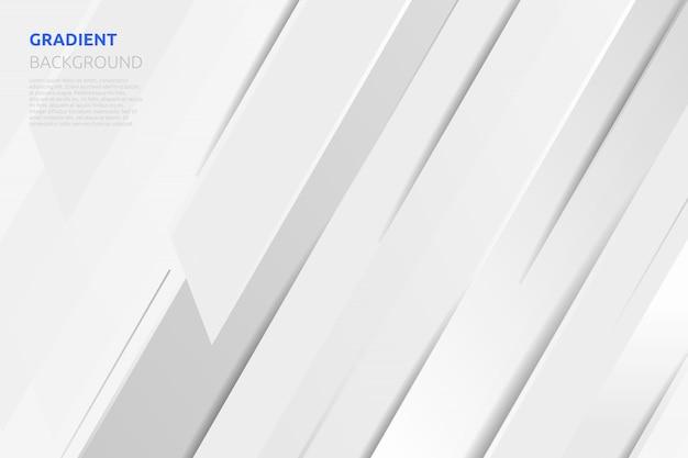 Abstrakter weißer und grauer geometrischer hintergrund