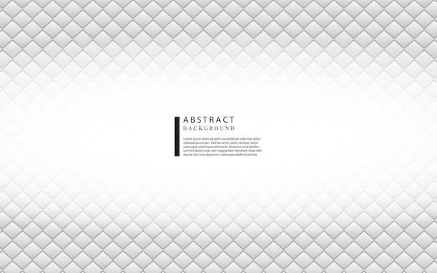 Abstrakter weißer und grauer quadratischer hintergrund