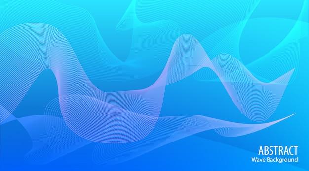 Abstrakter wellenblauhintergrund