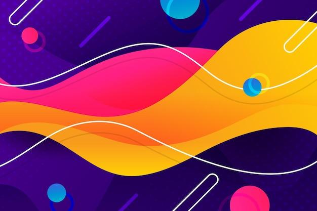 Abstrakter wellenförmiger hintergrund mit farbverlauf