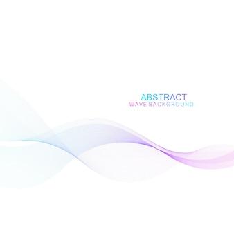 Abstrakter wellenhintergrund. geometrische vorlage für ihre designbroschüre, flyer, bericht, website, banner.