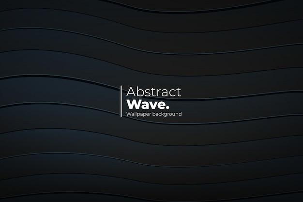 Abstrakter wellenhintergrund mit 3d linien
