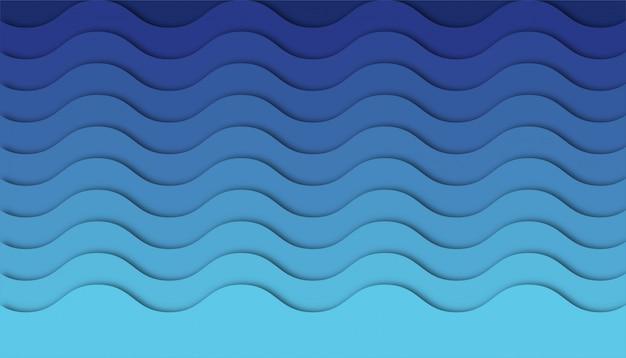 Abstrakter wellenhintergrund mit papierschnittformen.