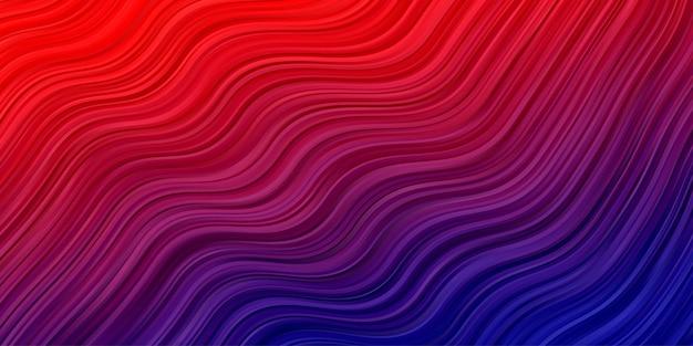 Abstrakter wellenhintergrund. streifenlinienmustertapete in der roten blauen farbe