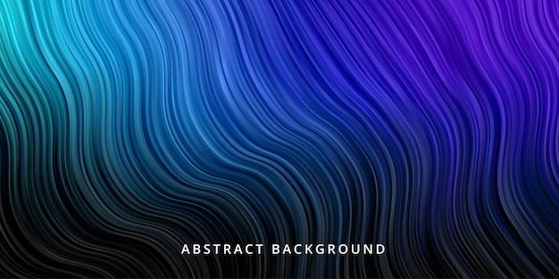 Abstrakter wellenhintergrund. streifenlinienmustertapete in der schwarzen blauen farbe