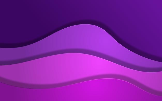 Abstrakter wellenüberlappungshintergrund in lila farben