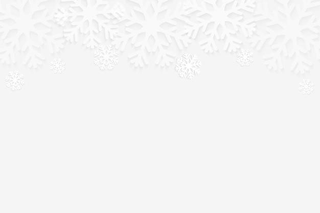 Abstrakter winterschneeflockenhintergrund mit kopienraum. vektor-illustration.