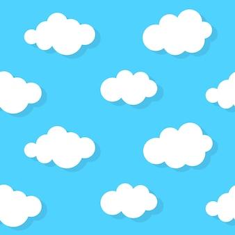 Abstrakter wolkenhintergrund blau. vektor-illustration eps10