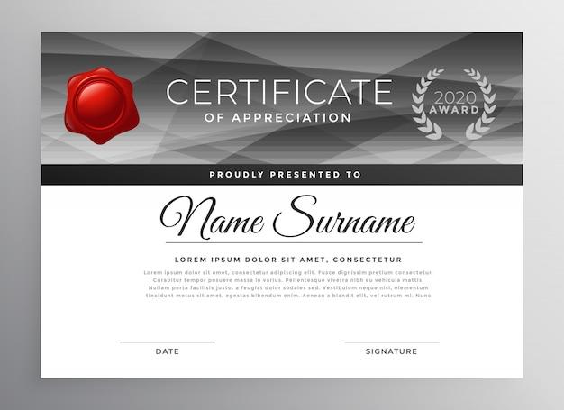 Abstrakter zertifikatschablonen-designvektor