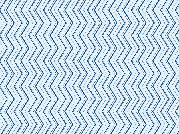 Abstrakter zick-zack-linien-muster-hintergrund in der blauen farbe.