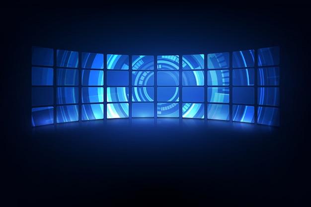 Abstrakter zukünftiger futuristischer virtueller designhintergrund des schirmsystems hud ui gui